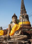 Sculpture of buddha size 3.5m Stock Photos