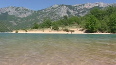 Lake of Sainte-Croix in France, Provence - low angle Stock Footage
