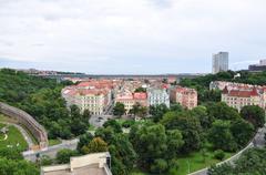 Nusle valley in Prague - stock photo