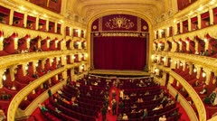People in opera theater timelapse Stock Footage