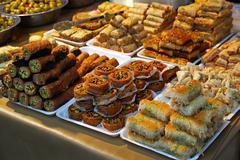 Turkish sweets Stock Photos