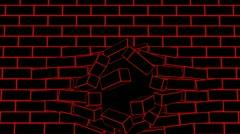 Brickwall Stock Footage