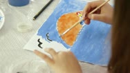 Stock Video Footage of Child Drawing