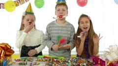 Celebration Of Birthday - stock footage
