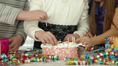 Kids Birthday Party Stock Footage