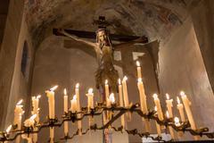 Crucifix adoration Stock Photos