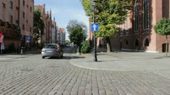 Elblag, Poland - The old town Stock Footage