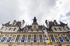 Hotel de ville building, paris, france Stock Photos