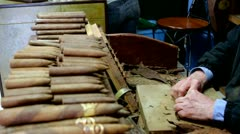 Hand-rolled cigars -Miami Stock Footage