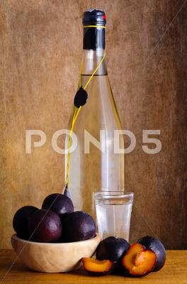 Stock photo of plum brandy