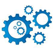 Cogs mechanical Stock Illustration
