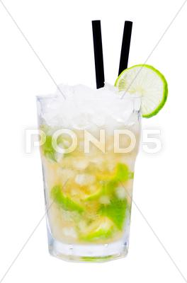Stock photo of caipirinha cocktail drink