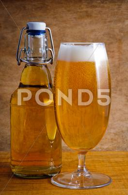 Stock photo of fresh beer
