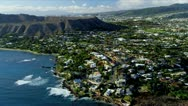 Stock Video Footage of Aerial view of Diamond Head, Hawaii