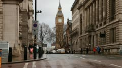 Big Ben from London Street Stock Footage