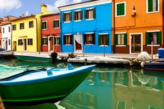 Colorful burano island Stock Photos