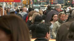 LP NYcrowd 10 Stock Footage