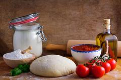 pizza ingredients - stock photo