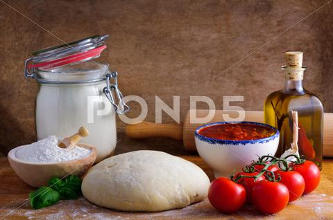 Stock photo of pizza ingredients