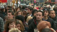 LP NYcrowd 12 Stock Footage