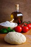 pizza dough - stock photo