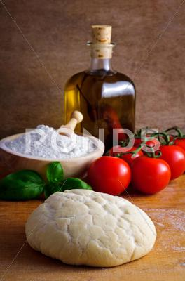 Stock photo of pizza dough