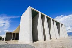 weird cement monument structure - stock photo
