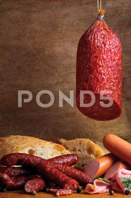Stock photo of traditional sausages