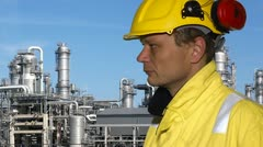 Petrochemical engineer Stock Footage