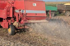 soy harvesting - stock photo