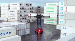 Container terminal Stock Footage
