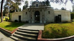 Neo Gothic Mausoleum Wide Angle Stock Footage