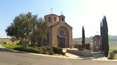 Saint Nicholas Greek Orthodox Chapel In Rose Hills Front Stock Footage