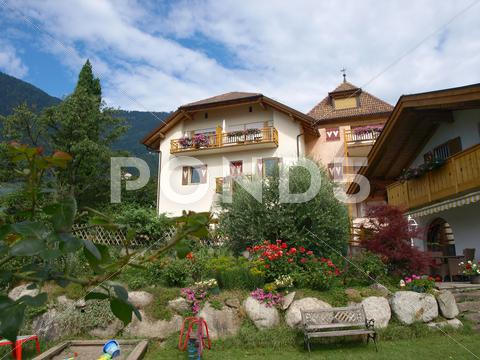 Stock photo of chalet di montagna  mountain chalet