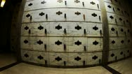 Stock Video Footage of Wall Of Burial Drawers In Mausoleum