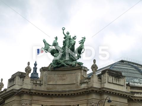 Stock photo of paris grand plais