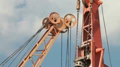 Crane boom Stock Footage