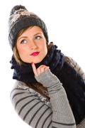 Stock Photo of woman and woolen outfit