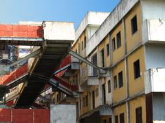particular sail of scampia - naples - stock photo