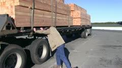 Semi truck, big rigs Stock Footage