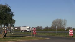 Truck stop, rest stop Stock Footage