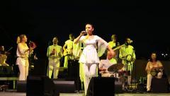 Feryal Oney singing Turkish folk song YANIYORUM Stock Footage