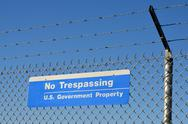 Stock Photo of us government no trespassing sign