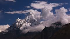 The view of Ama Dablam peak. Stock Footage