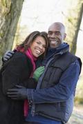 Couple On Autumn Walk Stock Photos
