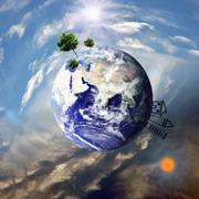 Maata eri elementtejä Kuvituskuvat