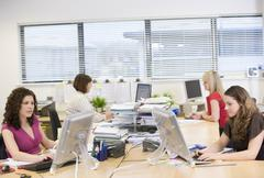 Women working in an office Stock Photos
