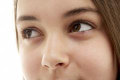 Close-Up Of Teenage Girl's Eye Stock Photos