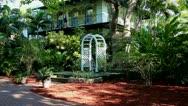 Wedding portal in Hemingways garden Stock Footage