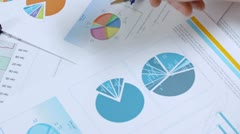 Calculating with business documents Stock Footage